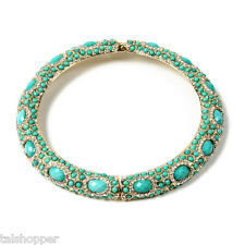 NWT Amrita Singh Sagaponack Turquoise Austrian Crystal Choker Statement Necklace