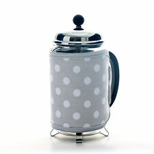 Dexam Dove Grey Spot Dot Cafetiere Cosy Coffee Press Maker Pot Warmer Cosie Cozy