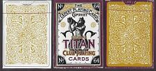 2 DECKS Global Titan Club white & gold playing cards