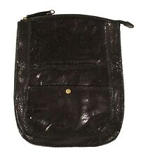 Polo Ralph Lauren Rugby Leather Python Clutch Bag New $198