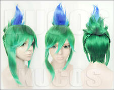 League of Legends LOL Riven Anime Costume Cosplay Wig +CAP +Free Track
