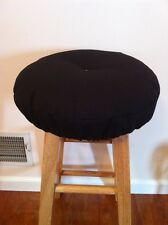 Black  bar stool cushioned cover