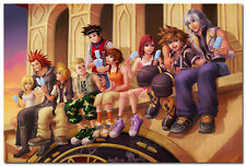 Kingdom Hearts Game Silk Fabric Wall Poster 24x36 inchES 006