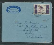 NEW HEBRIDES  (P2908B) 60C FISH ON FORMULA AEROGRAMME SENT TO AUSTRALIA 1967