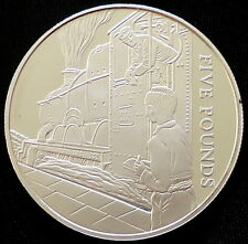 2004 Guernsey Silver Proof £5 Golden Age of Steam Trainspotter Royal Mint + COA