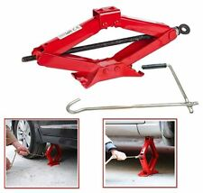 1-TON-TONNE SCISSOR WIND UP JACK CHROMED CRANK WITH SPEED HANDLE LIFT-CAR-VAN
