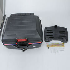 Universal Scooter Motorcycle Truck Rear Luggage Top Case Storage Tail Box Black