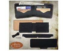 Springfield Leather Company DIY Premium Black Buffalo 4 Pocket Wallet Kit