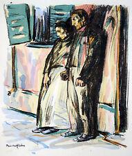 """ERNST BISCHOFF-CULM """"BRAND"""" ORIGINAL-FARB LITHOGRAPHIE 1915 SEZESSION BERLIN"""