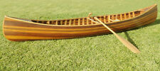 Cedar Strip Built Canoe Wooden Boat 12' Flat Matte Finish Woodenboat USA