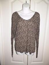 BRANDY MELVILLE Multi Print CUT OUTS BACK Long Sleeve Shirt ONE SIZE