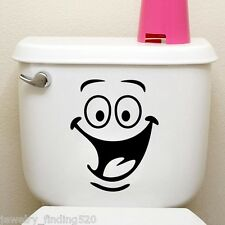 Bathroom Smile Face Toilet Wall Sticker Decal Mural Art Decor Funny Car Home