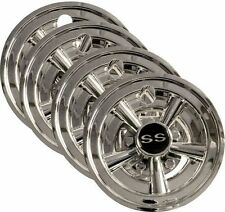 (4) ONE SET GOLF CART SS WHEEL COVERS HUB CAPS YAMAHA CLUB CAR EZGO PAR CAR 8""