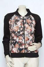 Sachin + Babi Black Multi Floral Bomber DREAM Neoprene Jacket Coat Sz 4 NWT $495