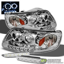 For 97-03 F150 Expedition Dual Halo Projector Led Headlights+Smd DRL Bumper Lamp
