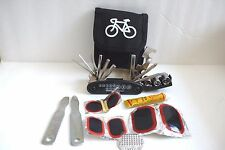 Cycling BICYCLE 15 in 1 Multi-Tool + Complete Brake patch kits with Nylon Pouch