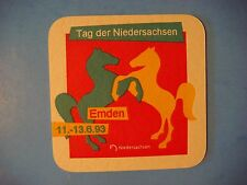 Beer Collectible Coaster ~ Tag Der Niedersachsen Emden Jever Brewing Co Germany