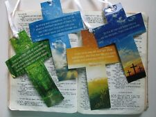 24 Religious CROSS BOOKMARKS Christian VBS FREE SHIP crosses bookmark