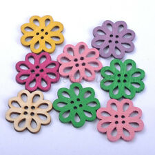 30pcs Mixed Wood Flower Beads Charms Jewelry Findings Accessories 20MM B469