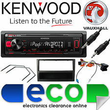 VAUXHALL Corsa D 2006 KENWOOD Radio Stereo Auto Mechless mp3 Lettore AUX Kit Nero
