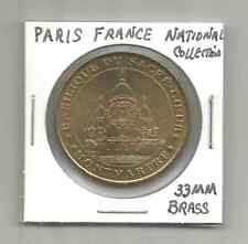 (Q) Pairs France National Collection Token ( 33 MM Brass )