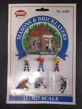 Model Power O Scale Masons & Bricklayers Pack (6 Figures, 1 Ladder) - MP6181