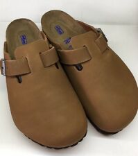 Birkenstock Boston 1002590 Size 42 L11M9 R Brown Nubuck Soft Footbed Clogs