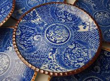 RARE SET 8 ANTIQUE JAPANESE BLUE & WHITE DISHES 1800s Porcelain Igezara Imban