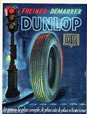 PUBLICITE ADVERTISING 026  1954  les pneus DUNLOP D5