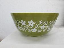 Vintage Pyrex Green Crazy Daisy 403 Mixing Bowl 2.5 Quart