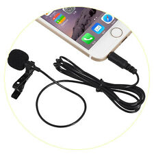 MINI Lapel Ties Clip-on Wire Condenser Karaoke Microphone Mic For iPhone Android