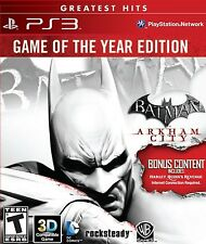 NEW Batman: Arkham City Game of the Year Edition GoTY (Sony Playstation 3, 2012)