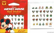 Disney Mickey Mouse Minnie Christmas Nail Art Sticker Decal Wreath Tree NEW