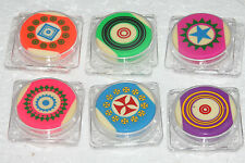 NEW TOURNAMENT LEVEL CARROM BOARD STRIKER MULTI COLOR (SET OF SIX) FREE SHIPPING