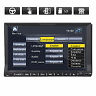 "7"" HD TOUCH SCREEN DOUBLE 2 DIN CAR RADIO CD DVD PLAYER MP3 IPOD BLUETOOTH DASH"