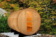 Barrel Sauna,Outdoor Sauna,Red Cedar,Electric Heater Included,8 Feet,Fits 6