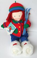 NEW MADELINE TALL DOLL SOFT PLUSH DOLL SNOW BOOTS WINTER SKI FREE GIFT WRAP