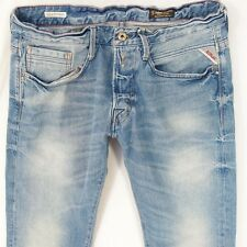 Para Hombre Replay M955 Billstrong Bootcut Relaxed Fit Blue Jeans W32 L32