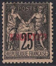EGYPT FRANCE 1900 ALEXADRIE IN RED INVERTED ON 25c BLACK ON ROSE SG11a MINT RARE