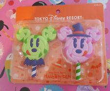 Tokyo Disney Resort Mickey Minnie Mouse Halloween Lollipop Magnets Witch Hat Bat
