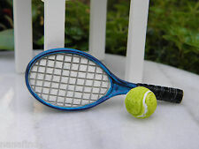 Miniature Dollhouse FAIRY GARDEN Accessories ~ Tennis Racket & Ball ~ NEW