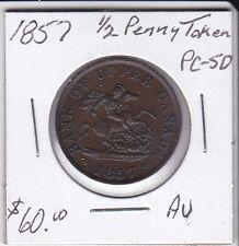 Canada 1857 1/2 PennyToken PC-5D