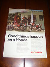 1974 HONDA CB 750 CB 550 GOOD THINGS HAPPEN ON A  ***ORGINAL VINTAGE AD***