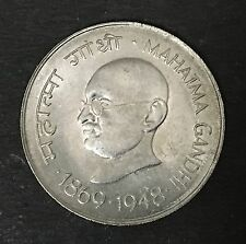 India Gandhi 1969 1 Rupee Superb UNC very beautiful copper nickel coin