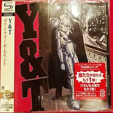 Y&T - DOWN FOR THE COUNT -  Japan Jewel Case SHM - CD - UICY-25636