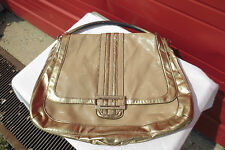 Anya Hindmarce Target Large Tan Gold Lopping Hobo Bag Purse