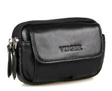 Leather Mens Waist Bag Fanny Pack Phone Pocket Pouch Bum Bag Hip Purse Wallet