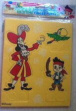 NUOVO Disney Jake & Neverland Pirati Bathtime Finger Puppets-Paolo Skully GANCIO