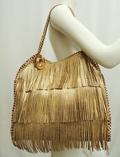 STELLA McCartney Gold Fringe Falabella Tote catena TRACOLLA SHOULDER BAG-HARRODS
