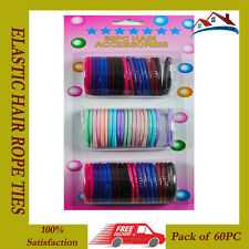 NEW 60PC HAIR ACCESSORIES ELASTIC HAIR ROPE TIES HAIRBAND FOR LADIES GIRLS BAND